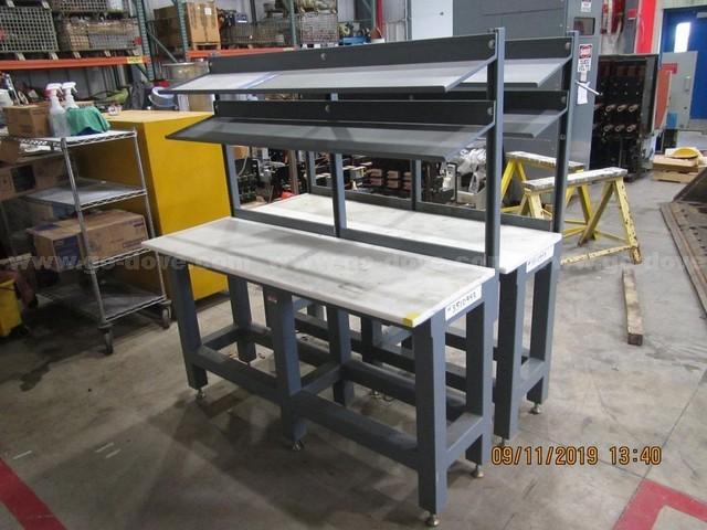 2ea. Steel Work Benches