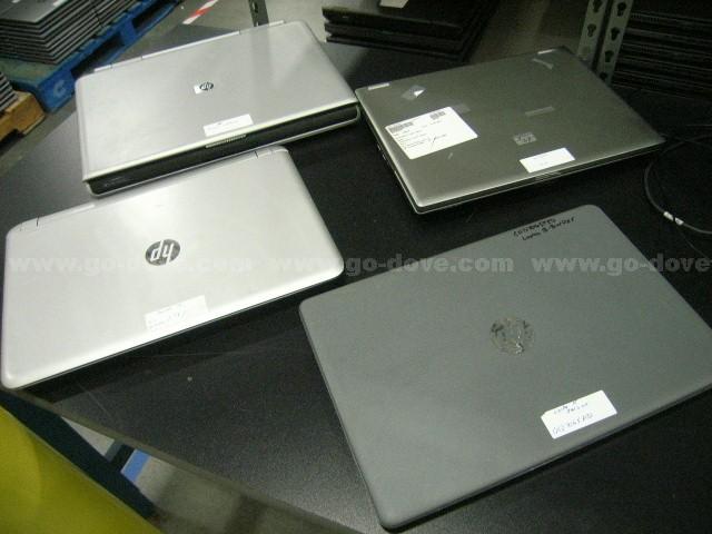 150ea (Apprx) HP & Compaq Salvage Laptops