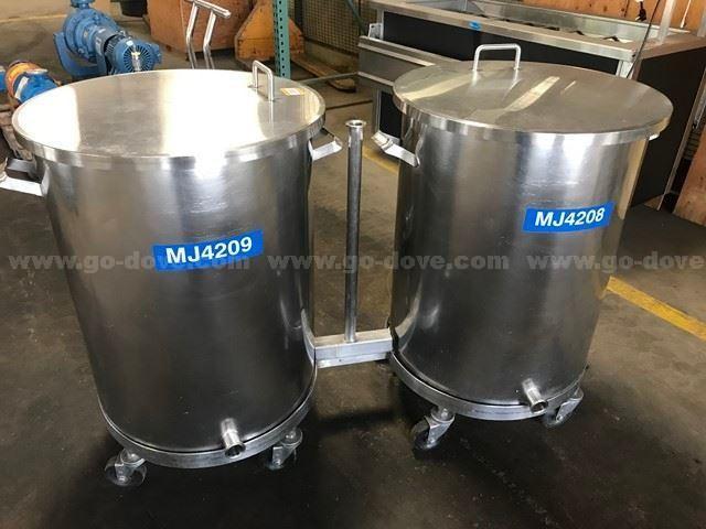 2 Ea., 50 gallon Stainless Steel Portable Tanks
