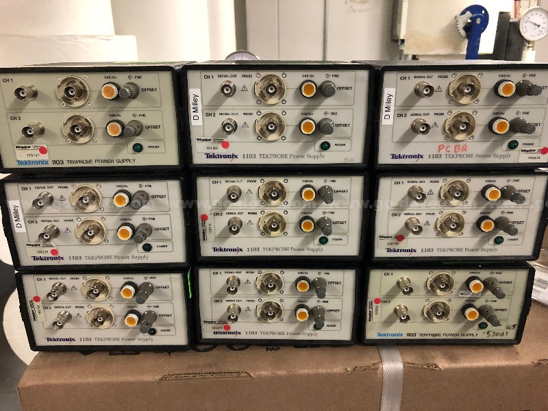 9 Ea. Tektronix 1103 Tekprobe Power Supply