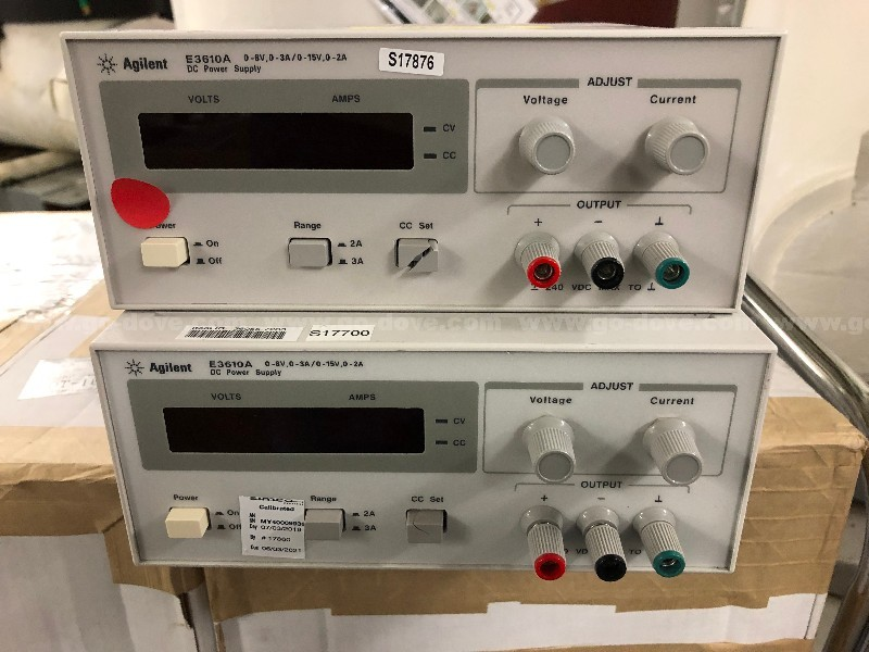 2 Ea. Agilent E3610A DC Power Supplies