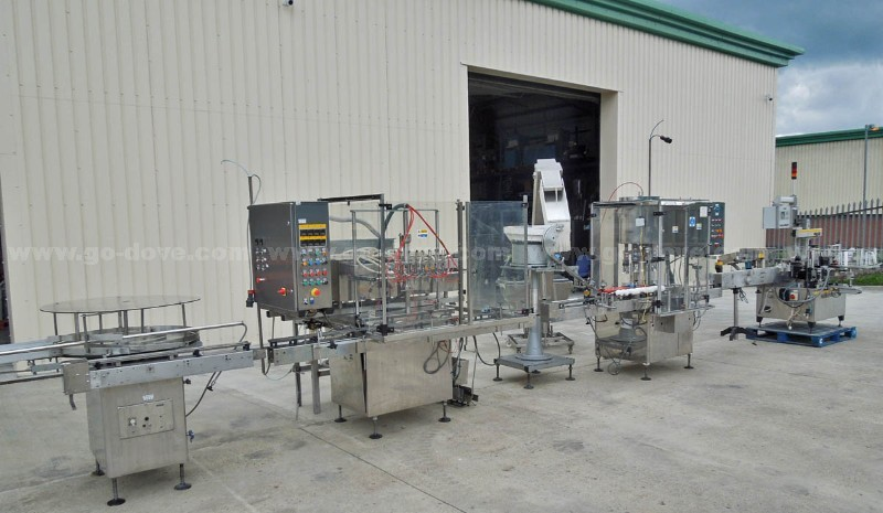 Automatic Liquid Filling/Capping and Labelling Line