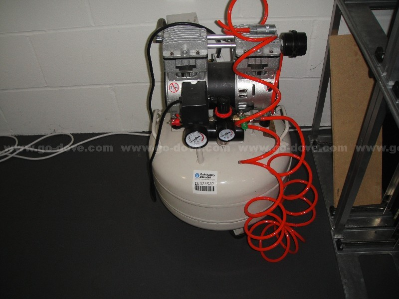 Oil free compressor, 35L tank, 850W